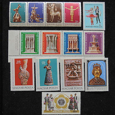 YS-E310 HUNGARY - Sculpture, Strip, Folklore, Great Stamps MNH