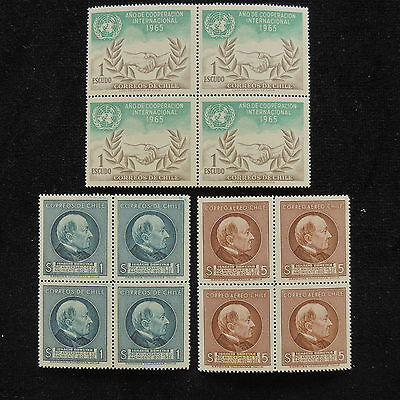 YS-E368 CHILE - Block Of 4, Onu, Great Stamps MNH