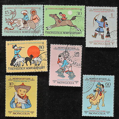 YS-E416 MONGOLIA - Lot, Childrens Day 1966 Used