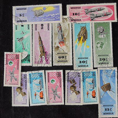 YS-E417 SPACE - Mongolia, Lot Of Great Stamps Used