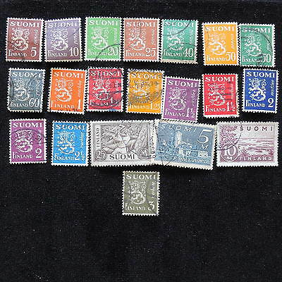 YS-E728 FINLAND - Lot, Suomi, Ordinary Old Stamps Used
