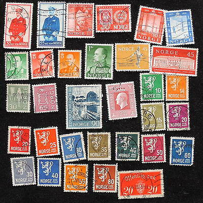 YS-G094 NORWAY - Set, Old Stamps, Coats Of Arms Used