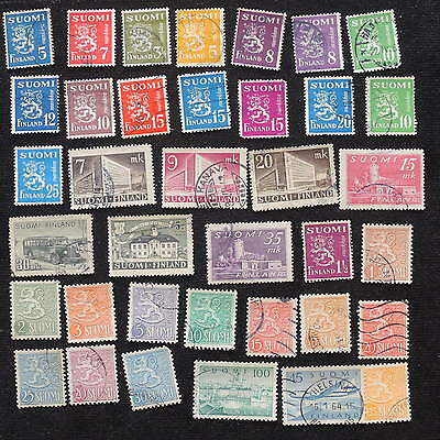 YS-G577 FINLAND - Lot, Old Stamps Used