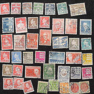 YS-G581 DENMARK - Lot, Old Stamps Used