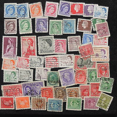 YS-G699 CANADA USED - Lot, Old Stamps All Different Used