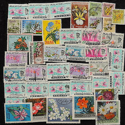 YS-G954 FLOWERS - Malaysia, Russia, Lot Used
