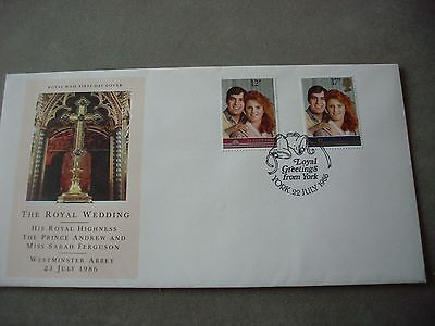 First day cover from 1986 The Royal Wedding special circular cancellation
