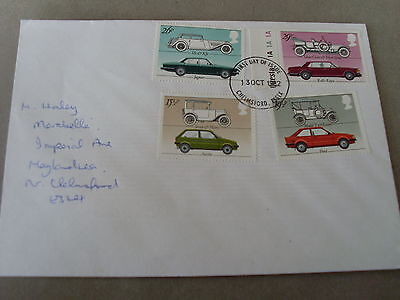 1982  First day cover of the Classic cars
