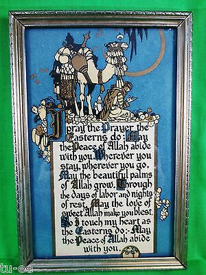 Buzza Motto Print 1920 I Pray the prayer the Easterns D0; Frame is As Found