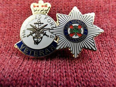 Irish Guards combined with a T/S Veterans Badge, Militaria, Militay Badges