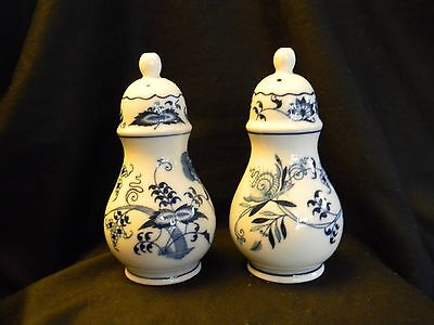 "Blue Danube ""blue Onion"" Salt & Pepper Shakers - Hard To Find!!"