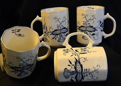 "Four  ""blue Onion"" Mugs By Arnart - Hard To Find!!"