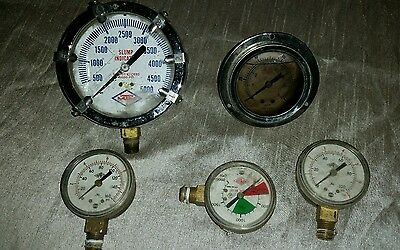 Lot of 5 Vintage Industrial Steampunk Guages
