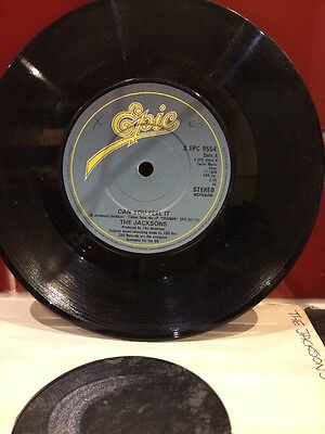 The Jacksons 7ins Vinyl - Can You Feel It & Wondering Who