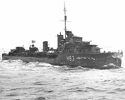 Royal Canadian Navy Destroyer Hmcs St Laurent H83 With Stats And History Sheet