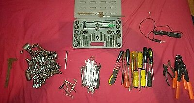 Job Lot Tools Sockets Spanners Screwdrivers  Tap and Die set