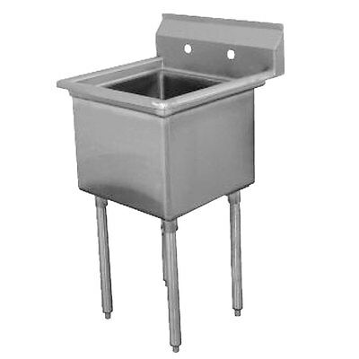 "Advance Tabco 1 Compartment Sink 16 Gauge Stainless 18"" X 18"" X 14"" Bowl - Fc-1-"