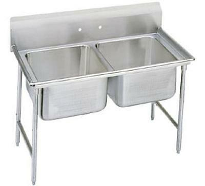 """Advance Tabco 2 Compartment Sink 18 Gauge 16"""" x 20"""" x 12"""" Bowls Stainless"""