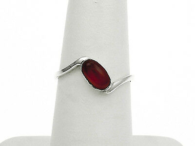 Sterling Silver Ring with Carnelian Stone Size - 7.25