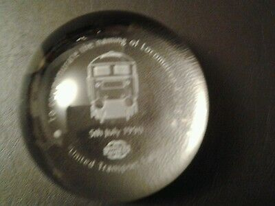 Glass Paperweight - Naming of Locomotive 47218