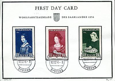 First Day Card Saar 1956 Volkshilfe