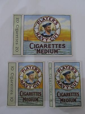 Vintage Players Navy Cut empty cigarette packet sleeves