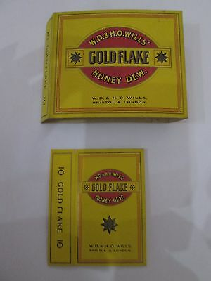 Vintage Gold Flake empty cigarette packet sleeves
