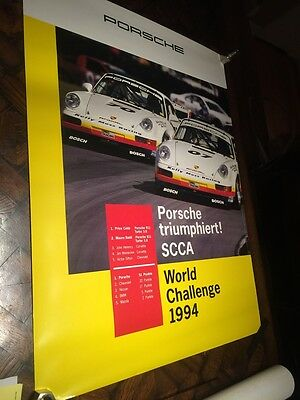 Official PORSCHE 1994 SCCA WORLD Racing POSTER Road Racing Touring Sports cars