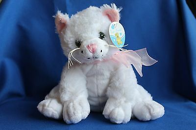 Cute White Kitten Cat Soft Toy