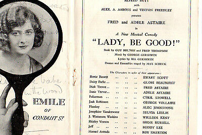 Empire Theatre Programme Fred And Adele Astaire In Lady Be Good