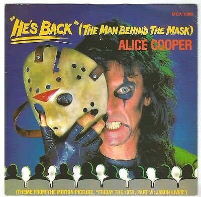 """ALICE COOPER """"He's Back"""" The Man Behind The Mask 7"""" Vinyl UK 1986  RARE!"""
