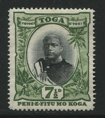 Tonga: 1897 King George II 7½d stamp SG48 MNG - AC188