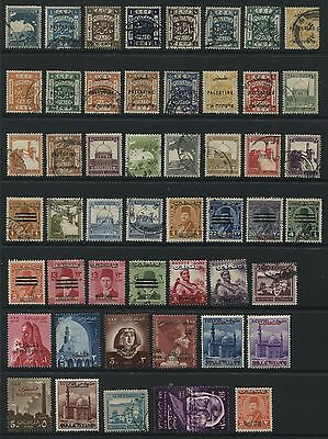Palestine: lot of 50 stamps - mix of mint and used - overprints/surcharges ZZ032