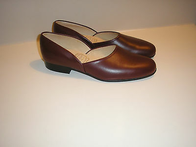 Made In England Vintage Bowhill & Elliot All Leather Slippers House Shoes Uk7