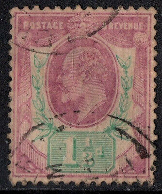 sg.223.   1.5d.  pale dull purple & green.    USED