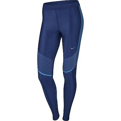 Nike Womens Power Speed Running Tights - 719784-457 - Size XS - Racer Blue