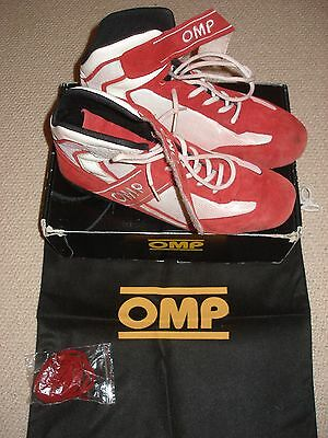OMP Red Karting Boots Size UK 9.5  EU 44