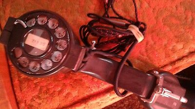 Vintage Bell System Western Electric Lineman Telephone Test Butt Set Rotary