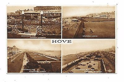 Nice Printed Multi-View Postcard Of Hove Sussex