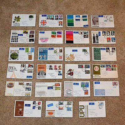 23 Official Post Office First Day Covers FDC from Great Britain 1969-1977
