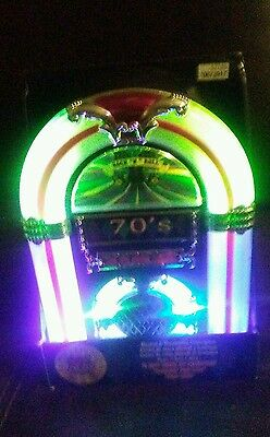 70s ROCK & ROLL JUKEBOX Musical Collectible Illuminated Classic Music Box NEW