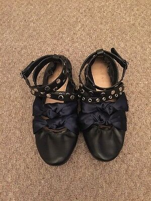 Ladies Contrast Strap Ballerina Shoes Size 39 By Zara