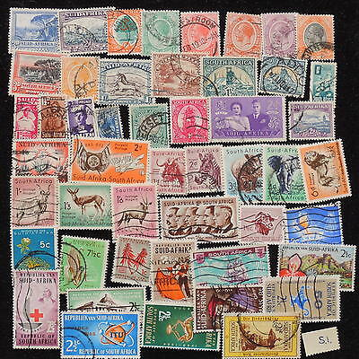 YS-H026 SOUTH AFRICA IND - Selection, Wild Animals, Great Stamps, S.I. Used