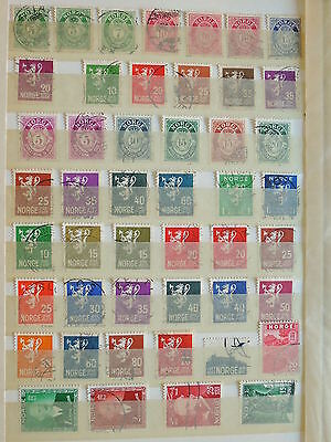 YS-H122 NORWAY - Lot, Ordinary Old Stamps Used