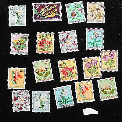 YS-H261 FLOWERS - Belgian Congo, Great Stamps, Used MH