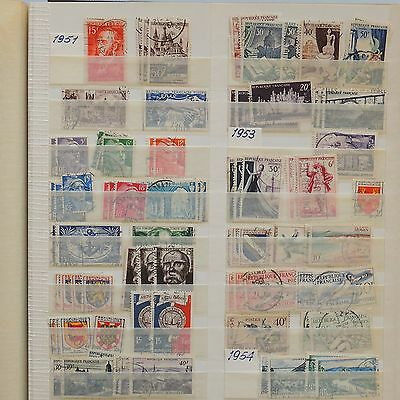 YS-H421 FRANCE - Lot, 1951-1954, Buildings, Coats Of Arms, Sports Used
