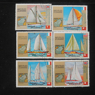 YS-H473 SHIPS - Guinea, Trans-Atlantica, Lot Of 6 Stamps Used