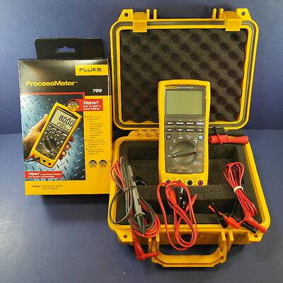 Brand New Fluke 789 Processmeter, Hard Case, Accessories