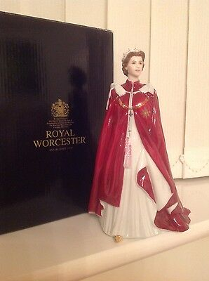 Royal Worcester Queen's 80th Birthday 2006 Fine China Figurine - Boxed - Unused