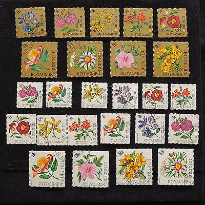 YS-H801 FLOWERS - Burundi, Great Lot Of Stamps Used